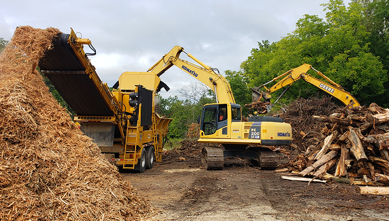 Rancourt Land Clearing of New York and Connecticut providing professional tub grinding Services