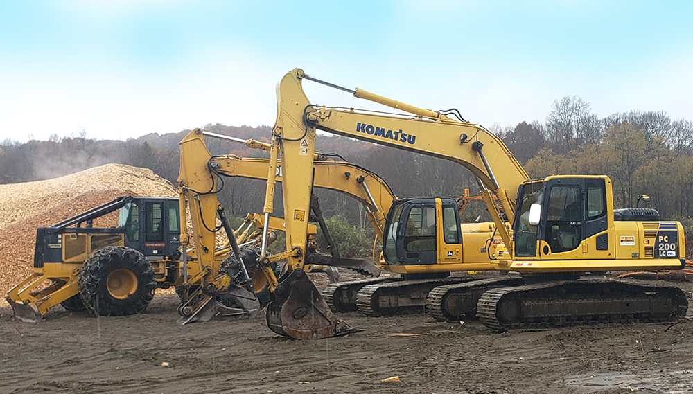 Rancourt Land Clearing Excavator Services in New York and Connecticut