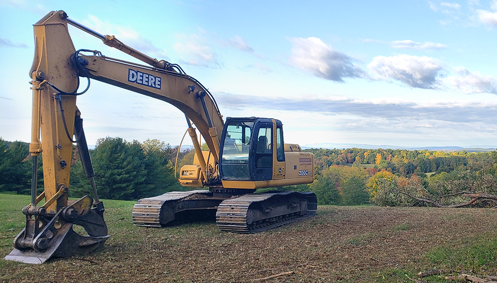 Rancourt Land Clearing Excavator services for New York and Connecticut area.