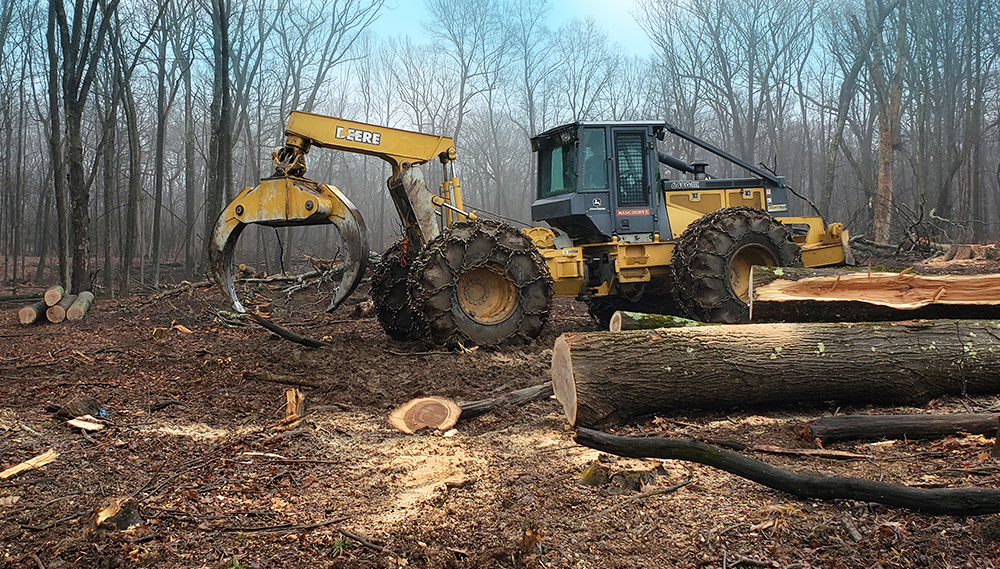 Rancourt Land Clearing Grapple Skidder Services in New York and Connecticut Area