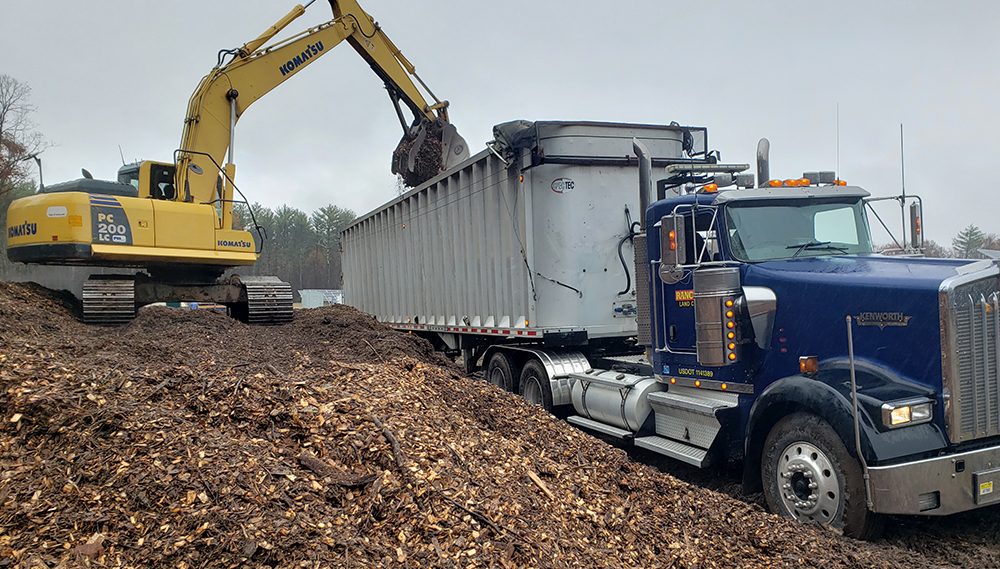 Rancourt Land Clearing Tractor Trailer Servicing New York and Connecticut