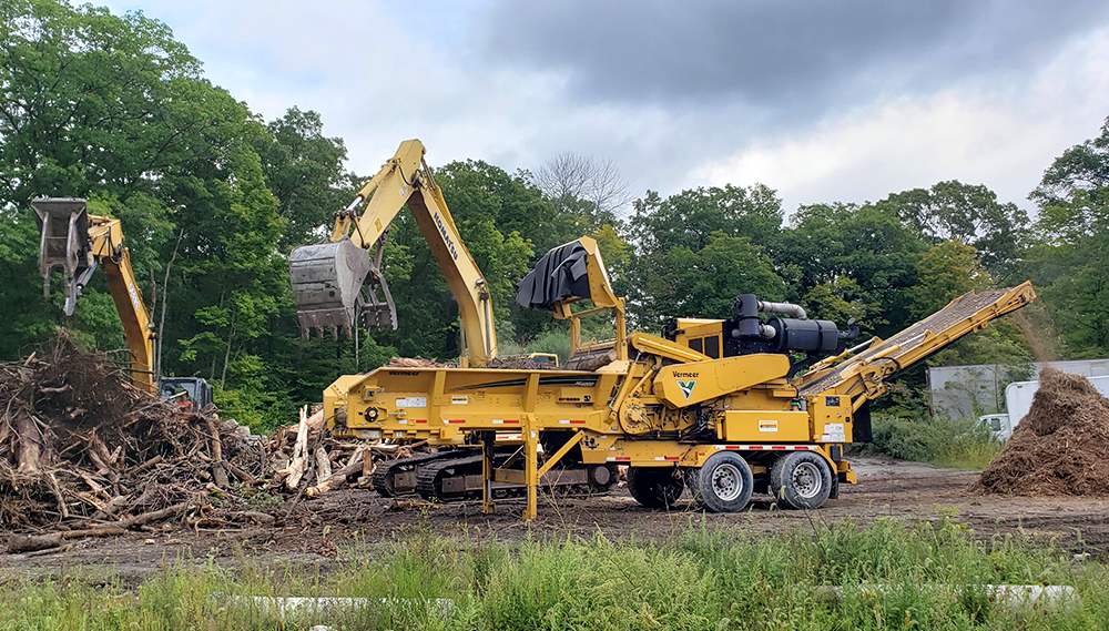 Rancourt Land Clearing Tub Grinder services for New York and Connecticut area.